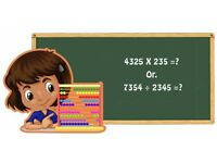 After School Activity- Mental Arithmatic Math Aged 4-8 years - KS1
