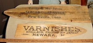 Antique wooden crate panels made into pelt stretchers London Ontario image 2