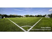 Sunday afternoon casual football in Haggerston Park - Londons best footy pitch