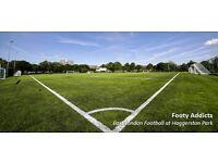 Casual football East London - every Sunday needs players