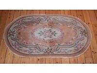 Attractive Aubusson-style rug like new