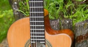 Classical acoustic electric guitar.
