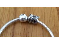 Pandora heart bracelet + charms