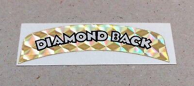 "**OLD SCHOOL BMX ""DIAMOND BACK"" AERO SADDLE REAR DECAL (GOLD)**"