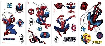 The Amazing Spider-Man Peel and Stick Wall Stickers Appliques Set 2, NEW SEALED Amazing Spider Man Peel