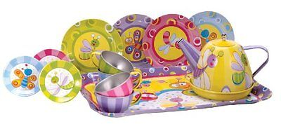 Schylling Summer Bugs Tin Tea Set , New, Free Shipping