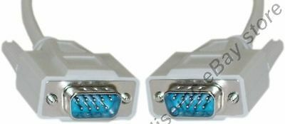 Lot10 15ft Long Db9pin Male-m Straight 9c Serial Rs232 Ca...