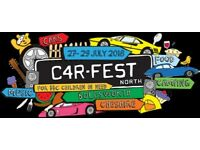 Carfest North weekend with camping tickets x 2