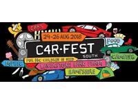 Car Fest South 2018 - 4 x Weekend Camping Adult (Age 17+) 24th - 26th August
