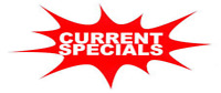 Specials for the week (April 10 to 15)!!