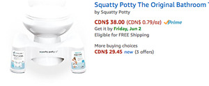 Squatty Potty, Never Used, too tall for short toilets
