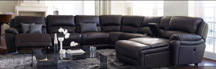 Nick Scali leather modular lounge