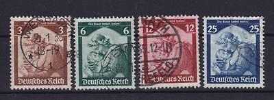 DR Mi Nr. 565 - 568, gest., Saarabstimmung Deutsches Reich 1935, used