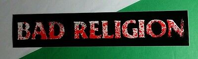 BAD RELIGION NEW MAPS OF HELL WARPED TOUR BLACK RED WHITE  MUSIC CASE STICKER