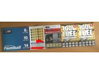20 IPG Paint-balling Tickets with 100 free paintballs per person included