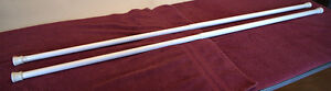 2 White Metal Adjustable Curtain Rods