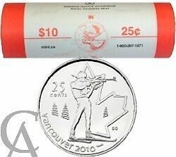 Coins: Canada Mint Rolls - Vancouver 2010 Olympic Quarters