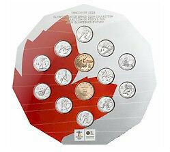 2007-2010 Olympic Vancouver 14-coin Collection