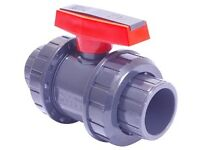 DOUBLE UNION PRESSURE BALL VALVE 1.5""