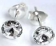 Genuine Swarovski Crystal Silver Earring