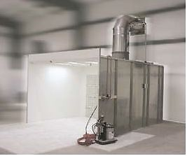 8' x 8' Spray booth engineered spray booth