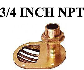 Groco-Sth750w-Thru-Hull-Fitting-Scoop-W-Nut-3-4-Inches