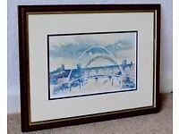 Millennium Bridge Watercolour - framed