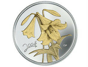 2004 Easter Lily Sterling Silver 50 Cent Coin