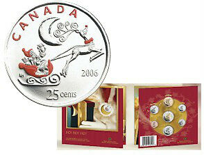 2005 and 2006 Holiday Gift Sets with Colourized Quarter Windsor Region Ontario image 2
