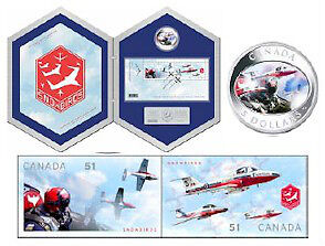 2006 $ 5 Coin and Stamp Set - Snowbirds Windsor Region Ontario image 1