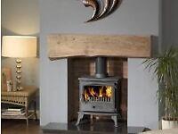 Wood burning stove install chimney sweep