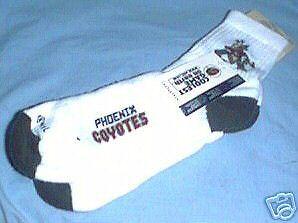 (Phoenix Coyotes Logo Socks Size 9 -11 White)