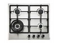 Single Multifunction Built in Oven and gas hob