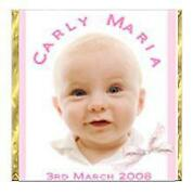 Personalised Christening Chocolates