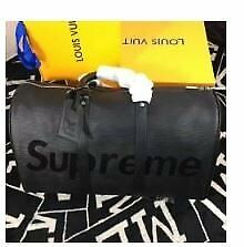 WOMENS LV LEATHER DUFFLE HOLDALL TRAVEL BAG - FREE POSTAGE
