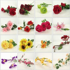 Approx 100 Artificial Silk Flowers WHOLESALE!  MEGA DEAL!  Not to be Missed!