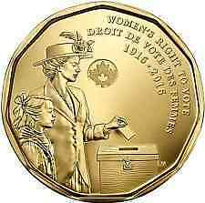 Commemorative Loonie and Canada Post Stamp Women's Right to Vote