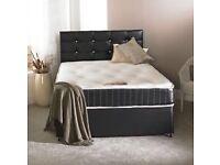 Divan black memory foam bed