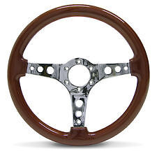 STEERING WHEEL 350mm ADR Approved-Wood Grain including Horn button