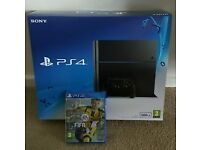 PS4 250GB with FIFA 17 and Call of Duty: Ghosts Boxed and in superb condition