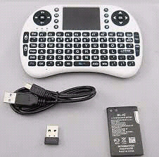 Android box. Wireless keyboard remote.