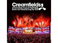 Creamfields 2018 - 4 Day Camping Gold