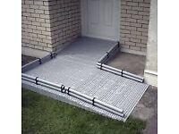 Excellent systems disabled ramp. Modular disability access for wheelchairs