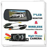 Back Up Camera Kit with 7 inch Monitor and Sensors