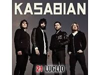 Two standing tickets for kasabian in Cardiff Monday 4th Dec