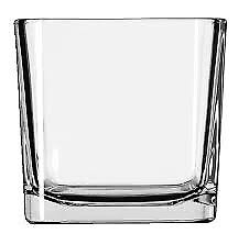 25 Libbey Medium Glass cube votive containers