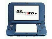 New Nintendo 3ds xl console in box - blue