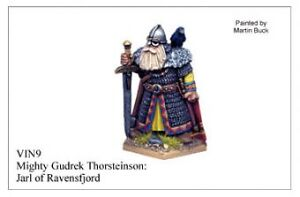 Wargames Foundry Viking Mighty Gudrek Thorsteinson, Jarl of Ravensfjord VIN009
