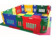 Jolly kiz versatile playpen with extension kit