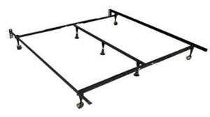king size steel metal bed frame, ONLY WORKS FOR KING